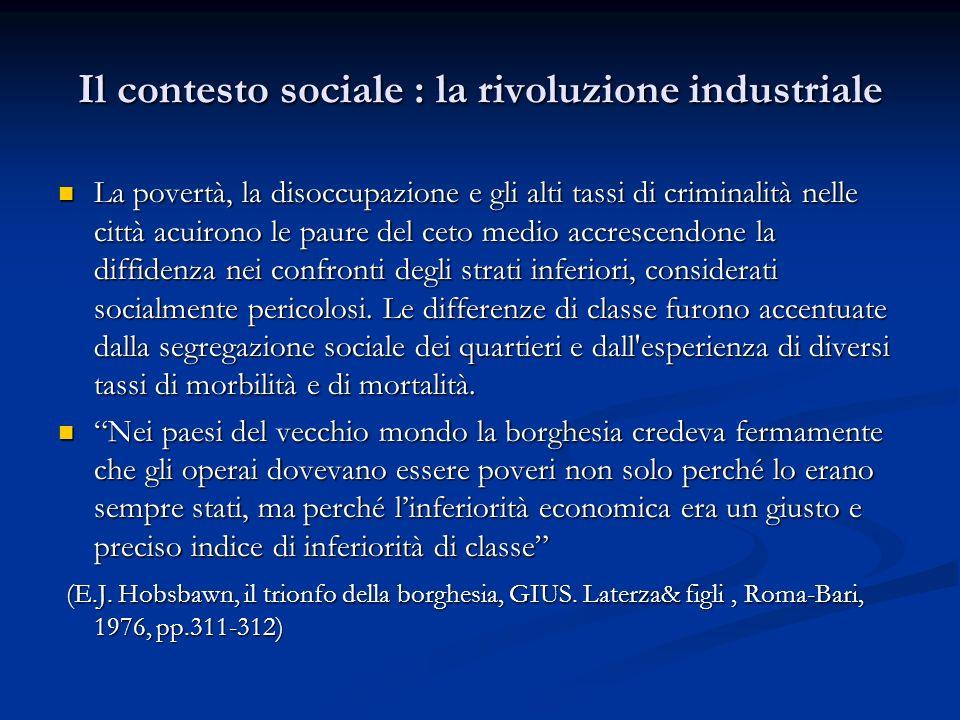 Il contesto sociale : la rivoluzione industriale