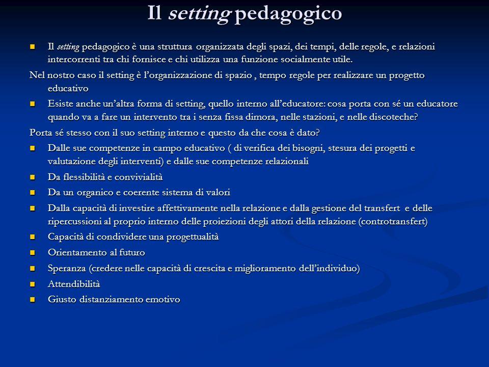 Il setting pedagogico