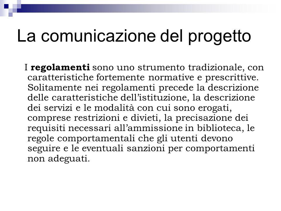 La comunicazione del progetto