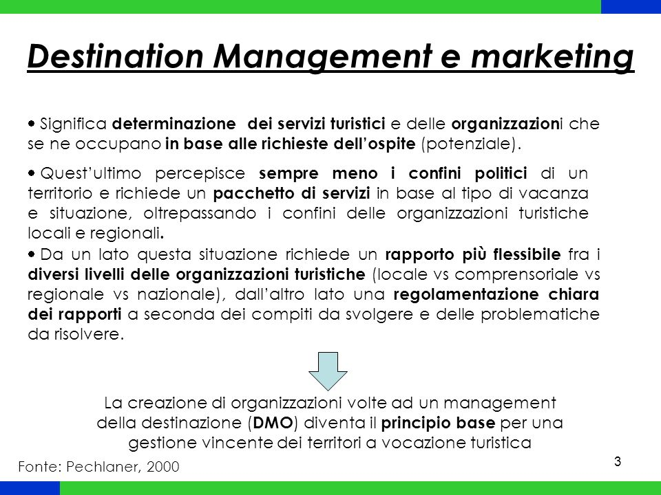 Destination Management e marketing