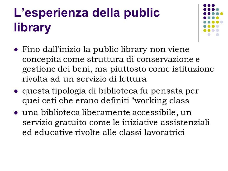 L'esperienza della public library