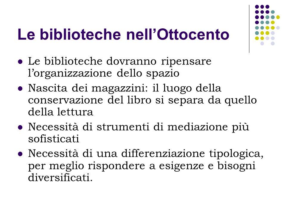 Le biblioteche nell'Ottocento