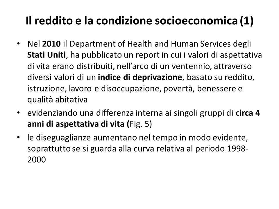 Il reddito e la condizione socioeconomica (1)