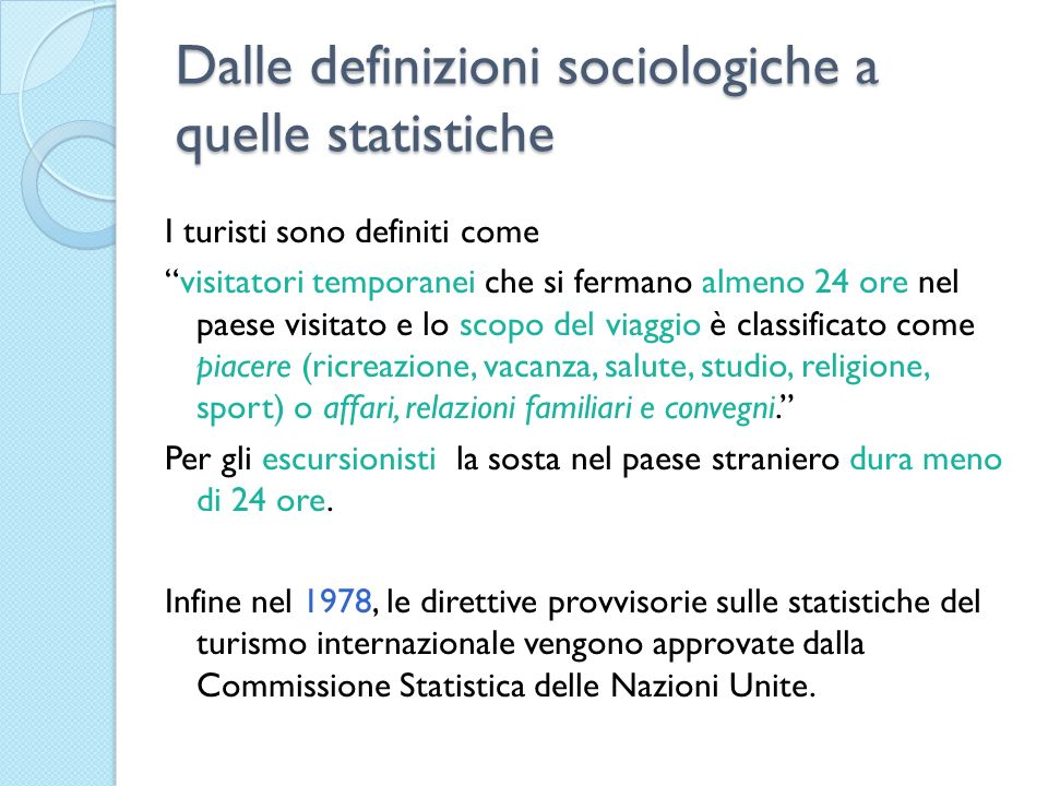 Dalle definizioni sociologiche a quelle statistiche