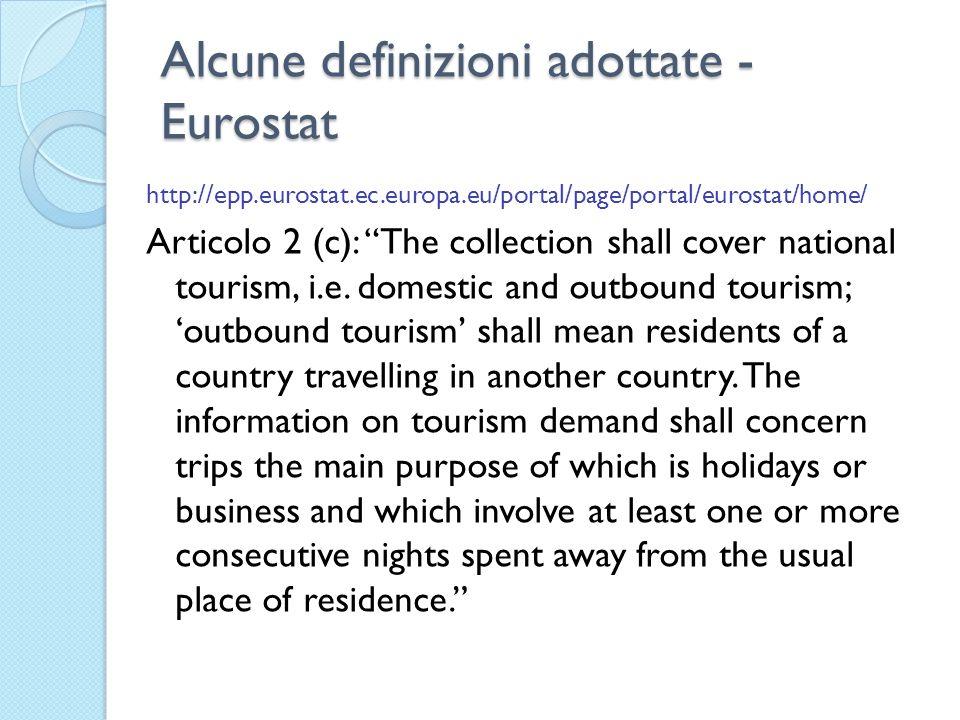 Alcune definizioni adottate - Eurostat