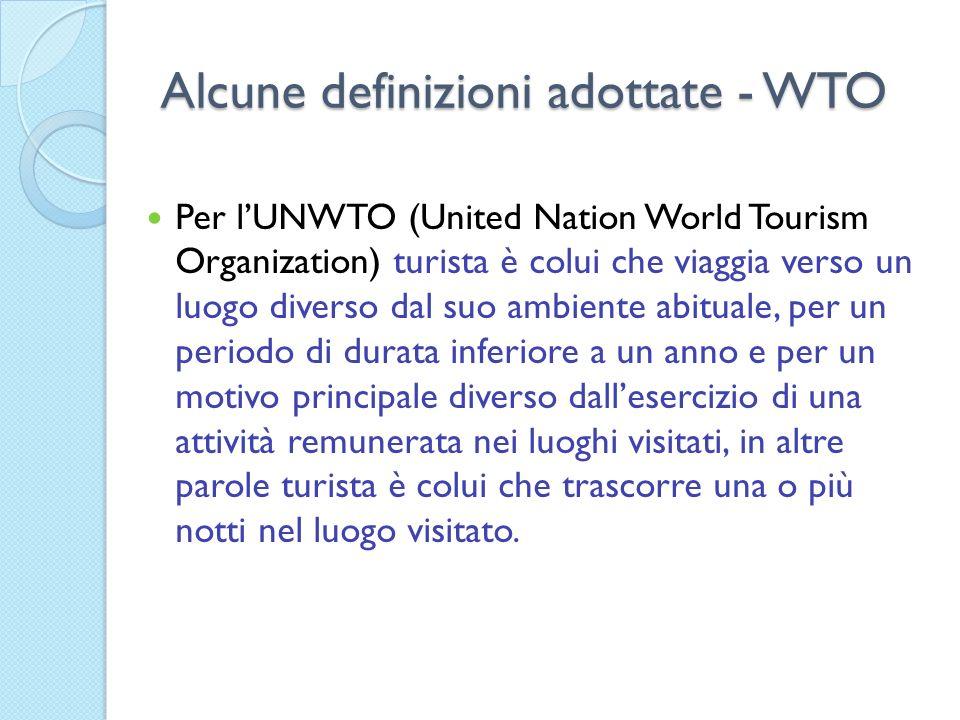 Alcune definizioni adottate - WTO