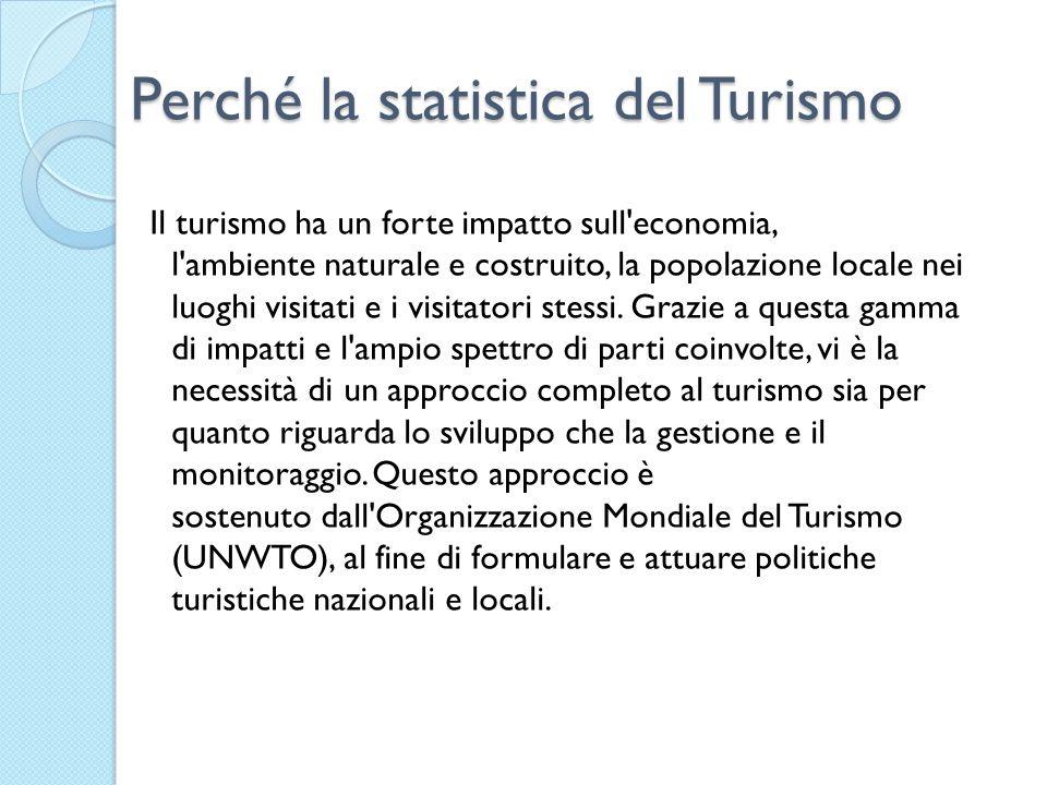 Perché la statistica del Turismo