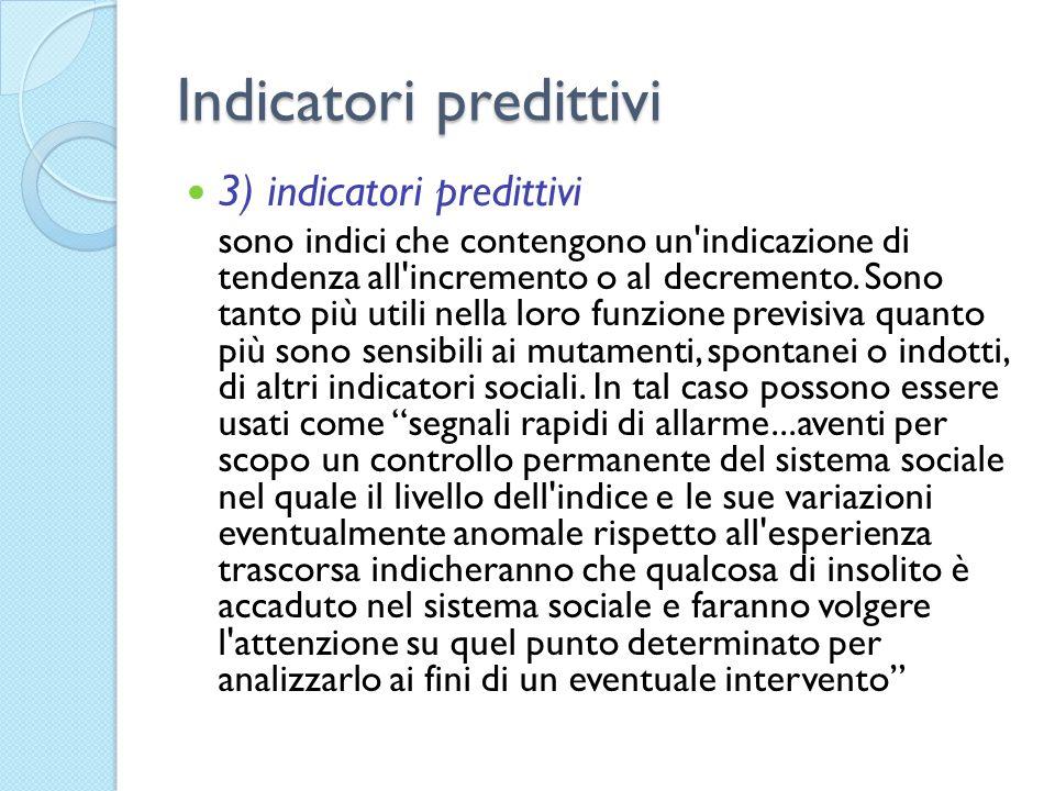 Indicatori predittivi