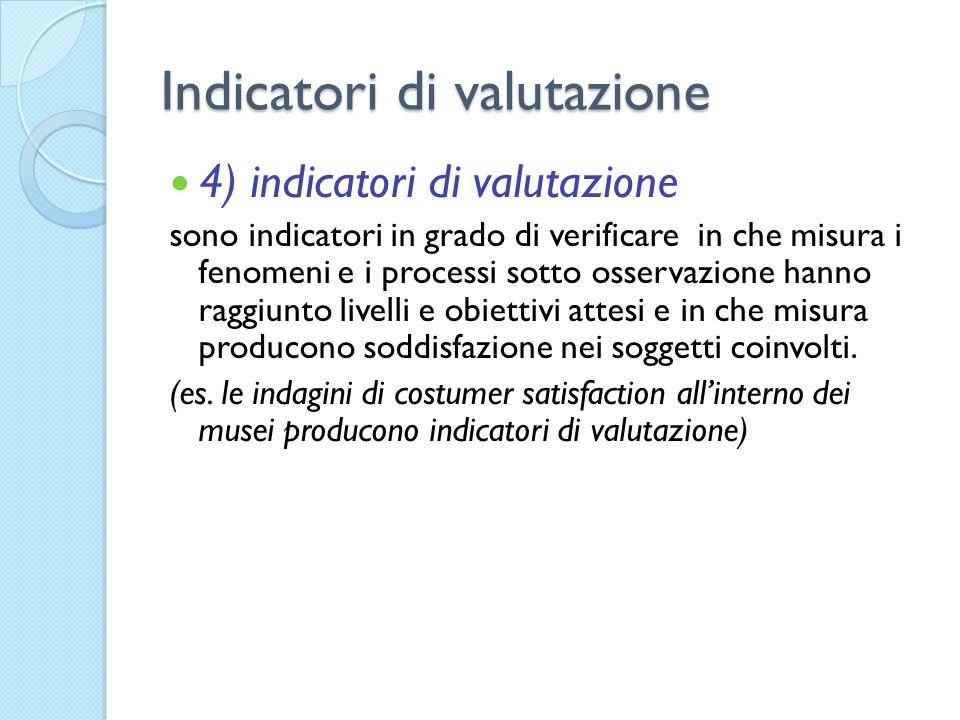Indicatori di valutazione
