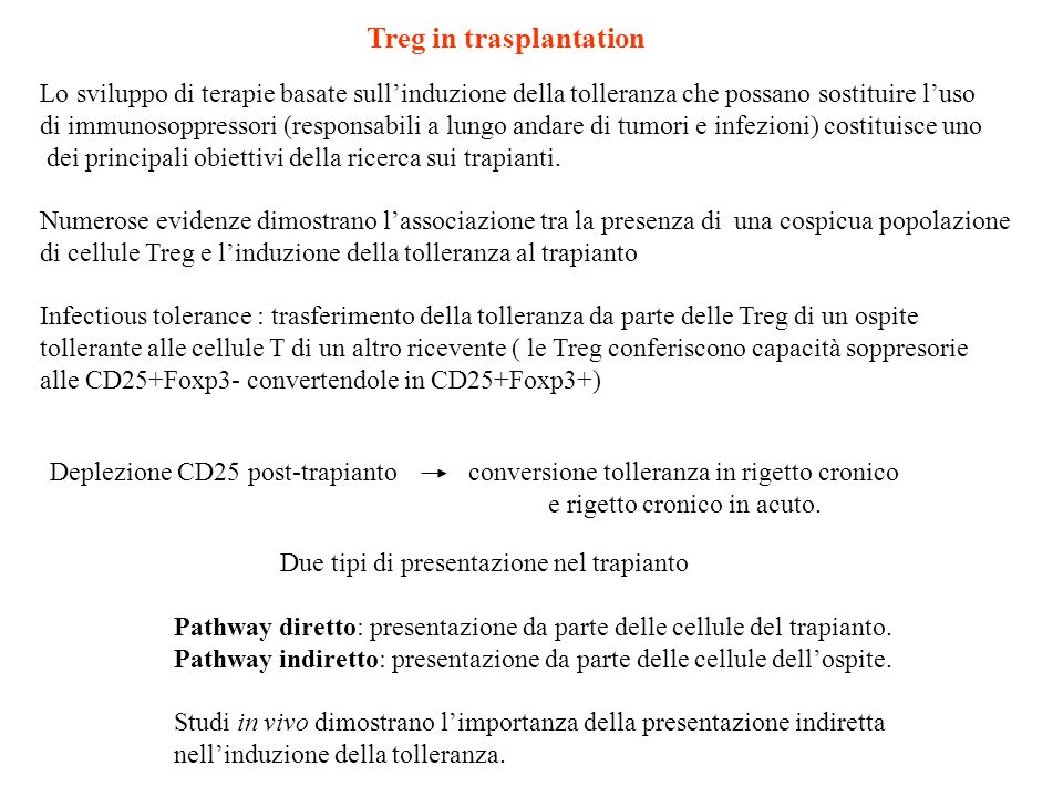 Treg in trasplantation