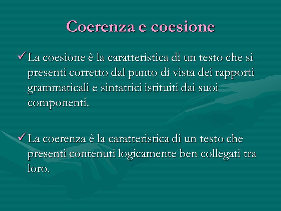 Coerenza e coesione