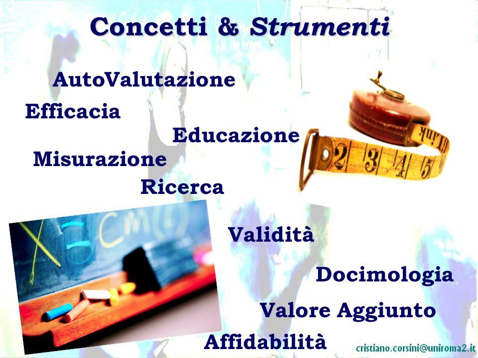 Concetti & Strumenti Auto Valutazione Efficacia Educazione Misurazione