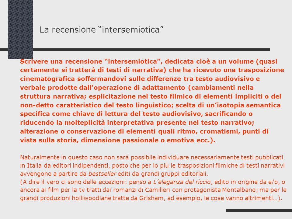 La recensione intersemiotica