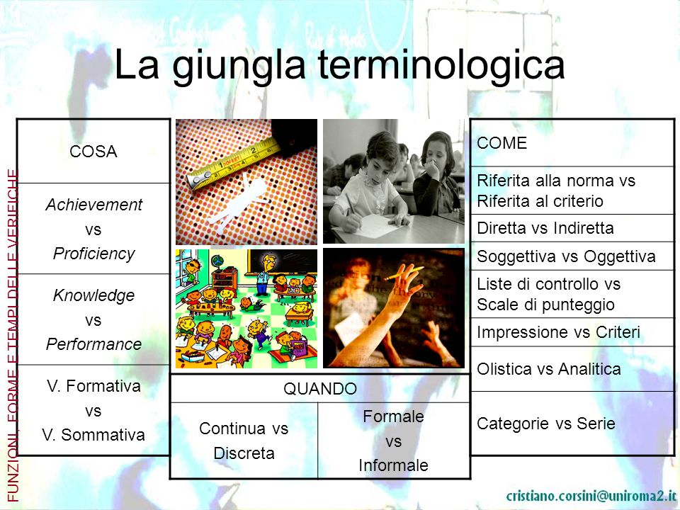 La giungla terminologica