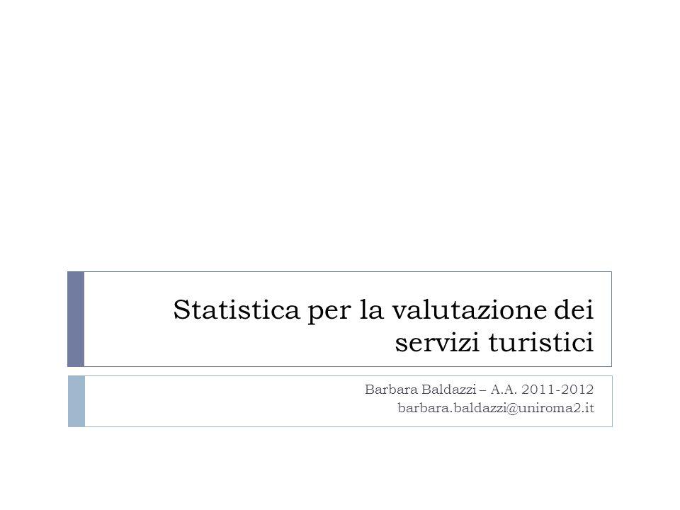 Statistica per la valutazione dei servizi turistici