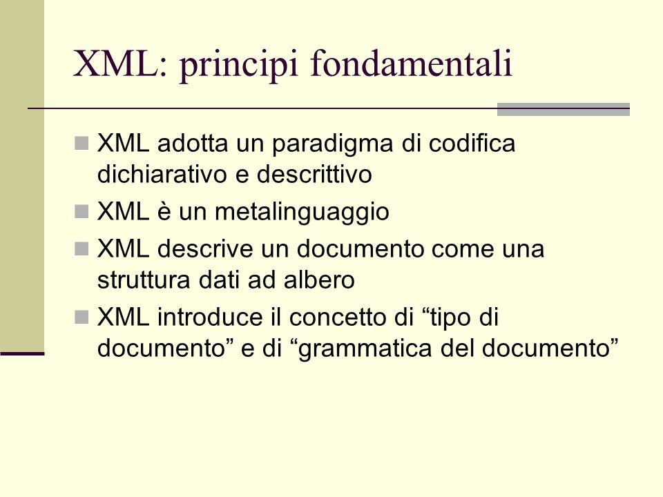 XML: principi fondamentali