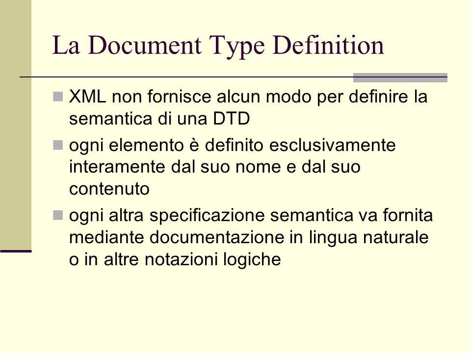 La Document Type Definition