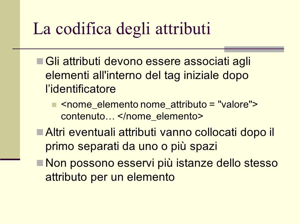 La codifica degli attributi