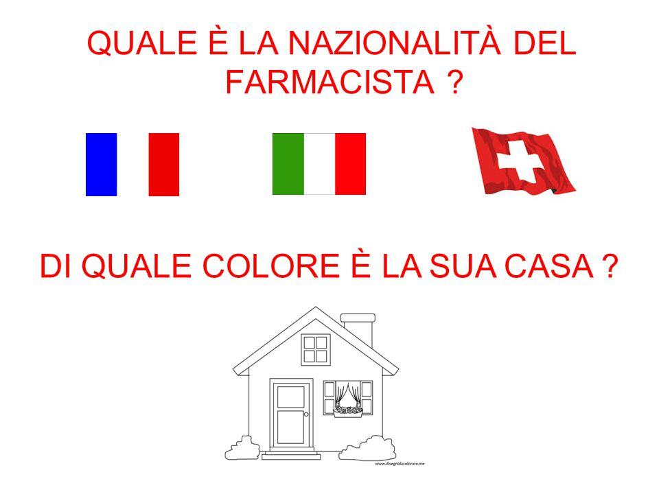 QUALE È LA NAZIONALITÀ DEL FARMACISTA