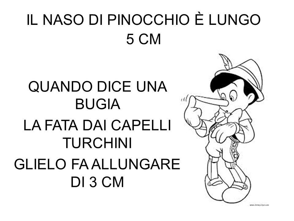 IL NASO DI PINOCCHIO È LUNGO 5 CM