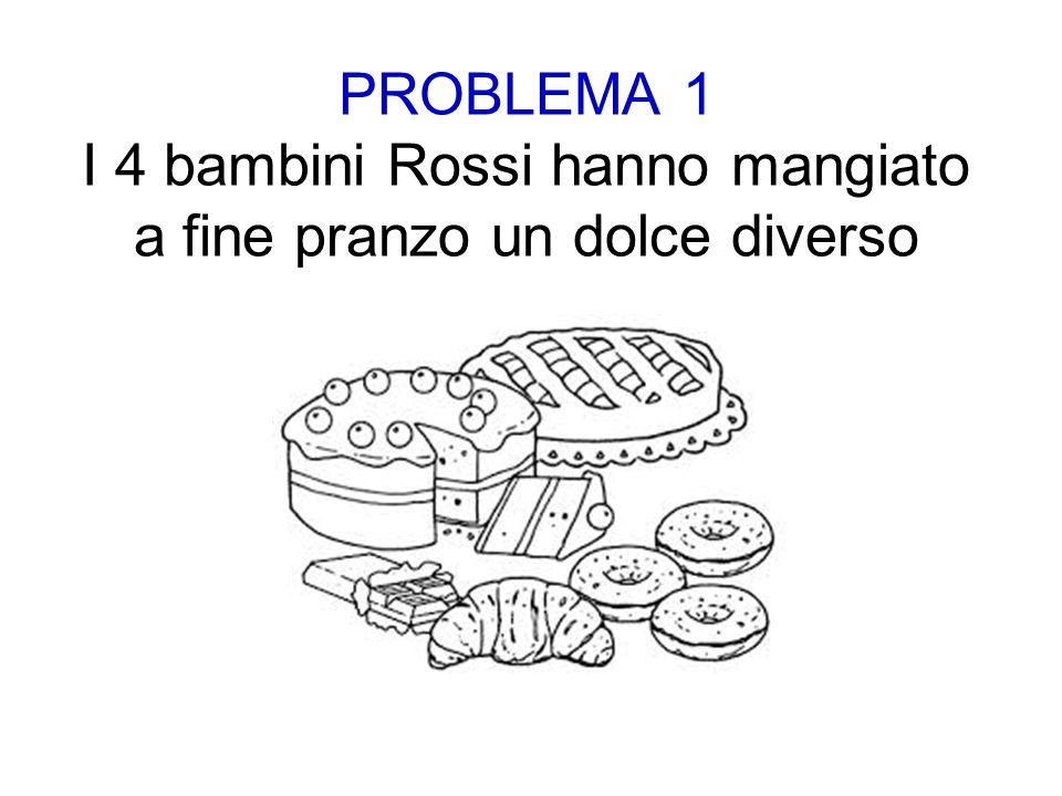 PROBLEMA 1 I 4 bambini Rossi hanno mangiato a fine pranzo un dolce diverso