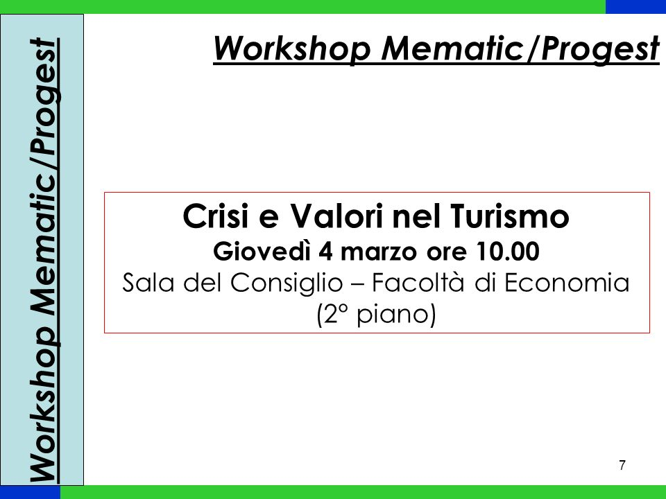 Workshop Mematic/Progest