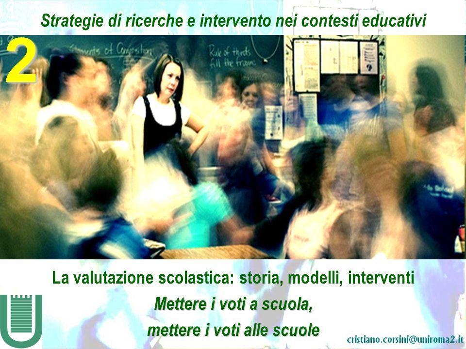 2 Strategie di ricerche e intervento nei contesti educativi
