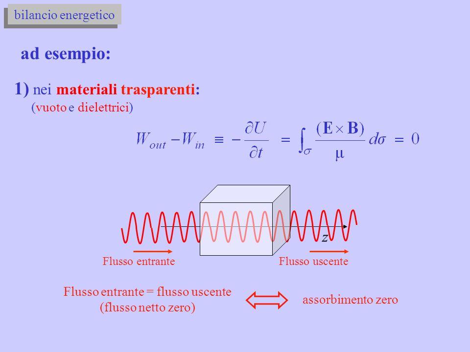 Flusso entrante = flusso uscente