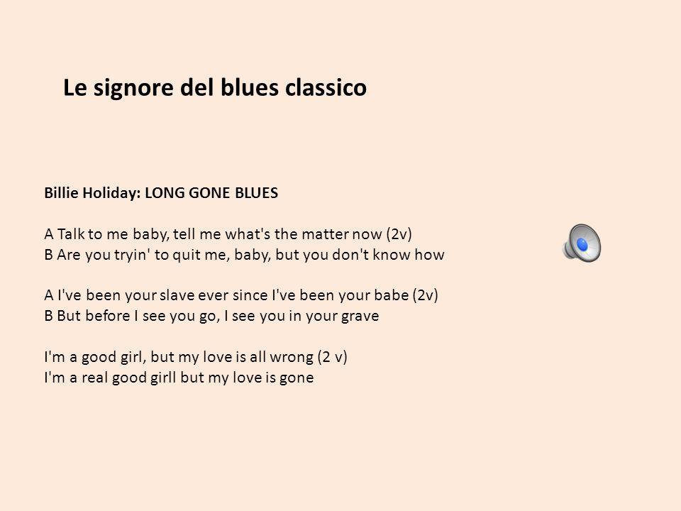 Le signore del blues classico