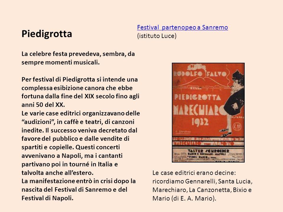 Piedigrotta Festival partenopeo a Sanremo (istituto Luce)