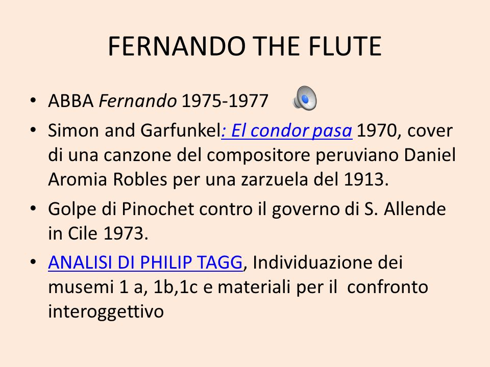 FERNANDO THE FLUTE ABBA Fernando 1975-1977