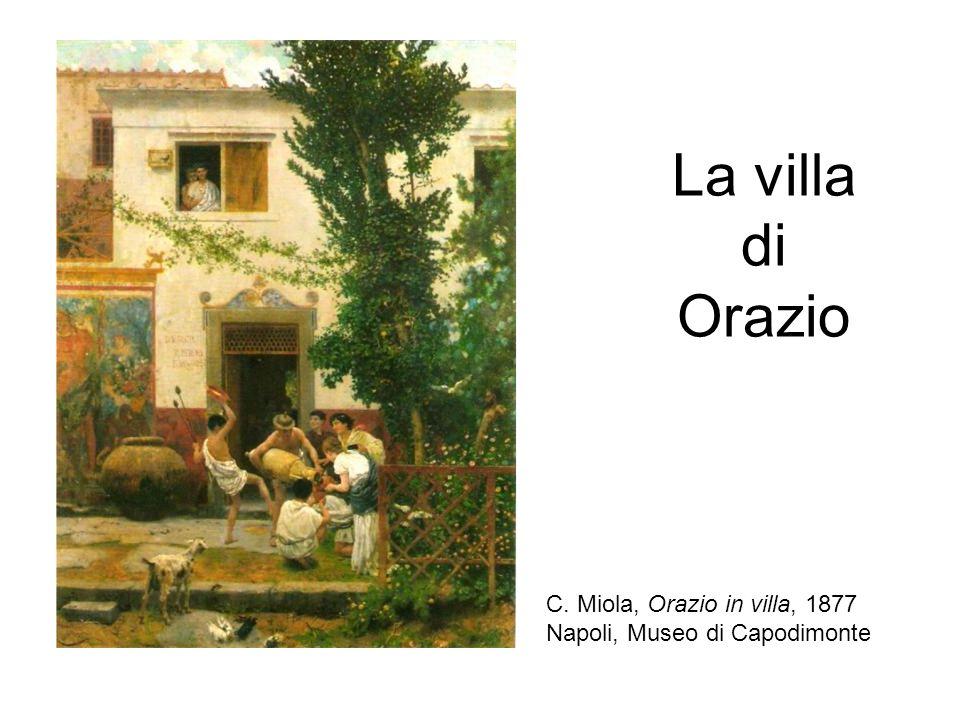 La villa di Orazio C. Miola, Orazio in villa, 1877