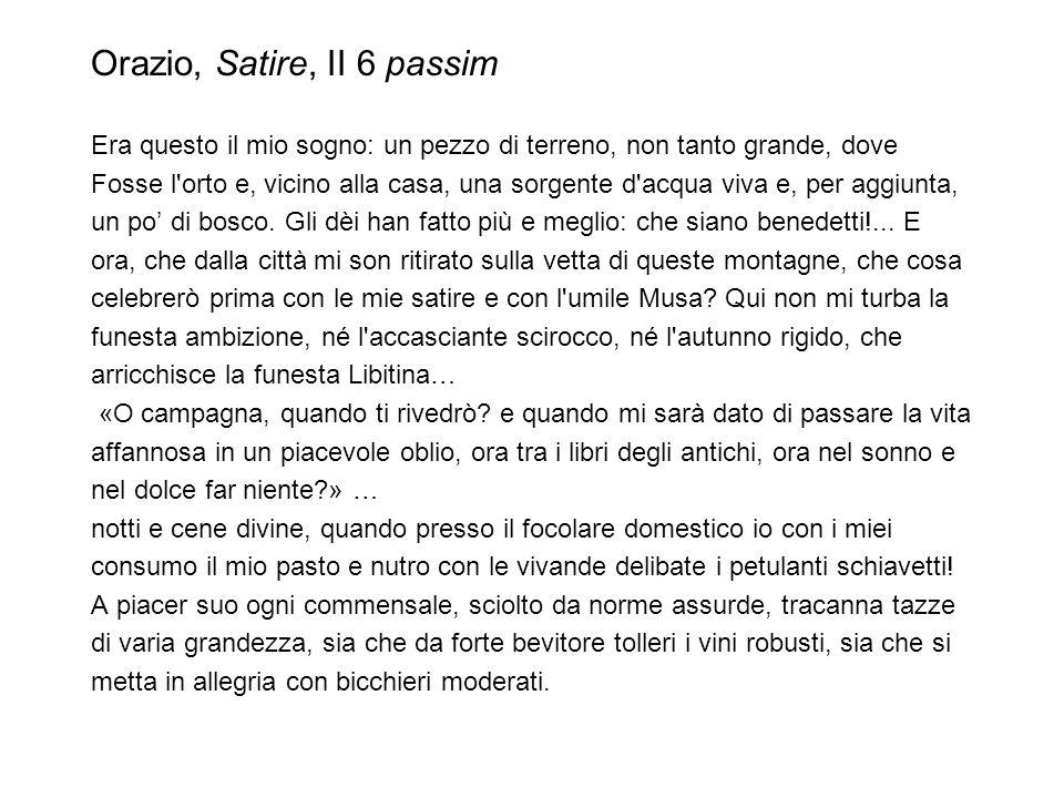Orazio, Satire, II 6 passim