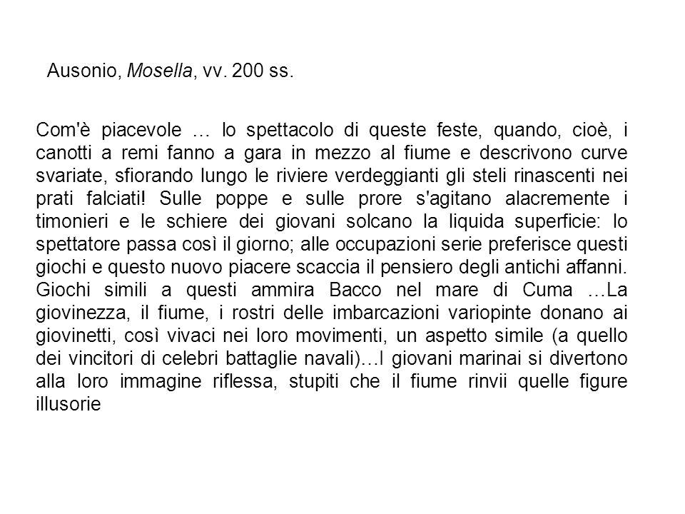 Ausonio, Mosella, vv. 200 ss.