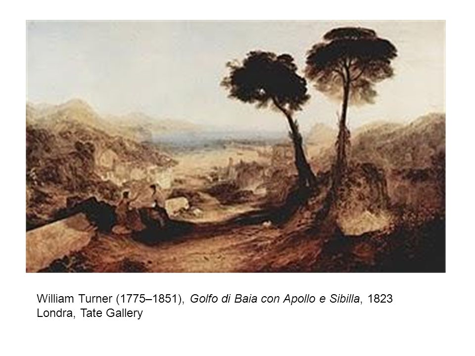 William Turner (1775–1851), Golfo di Baia con Apollo e Sibilla, 1823