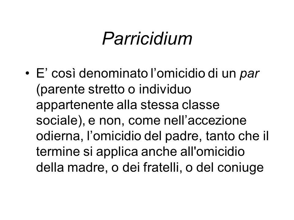 Parricidium