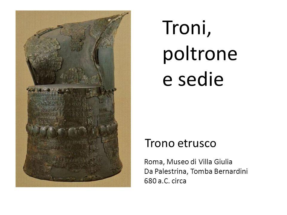 Troni, poltrone e sedie Trono etrusco Roma, Museo di Villa Giulia