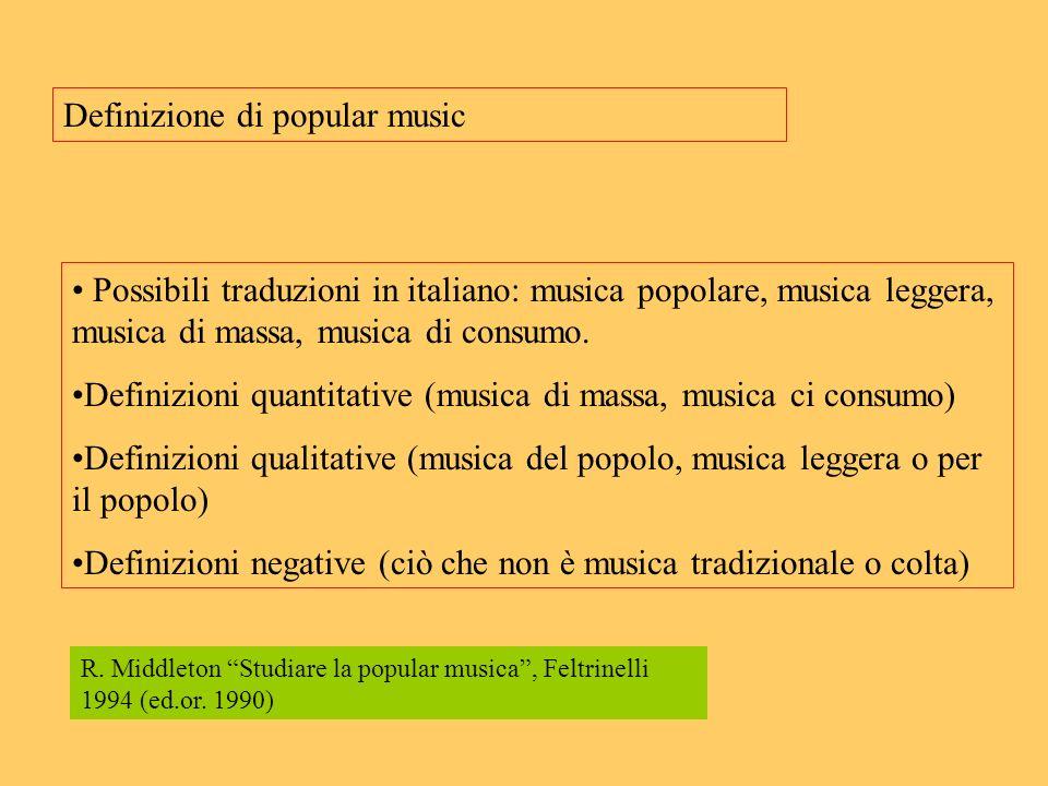 Definizione di popular music