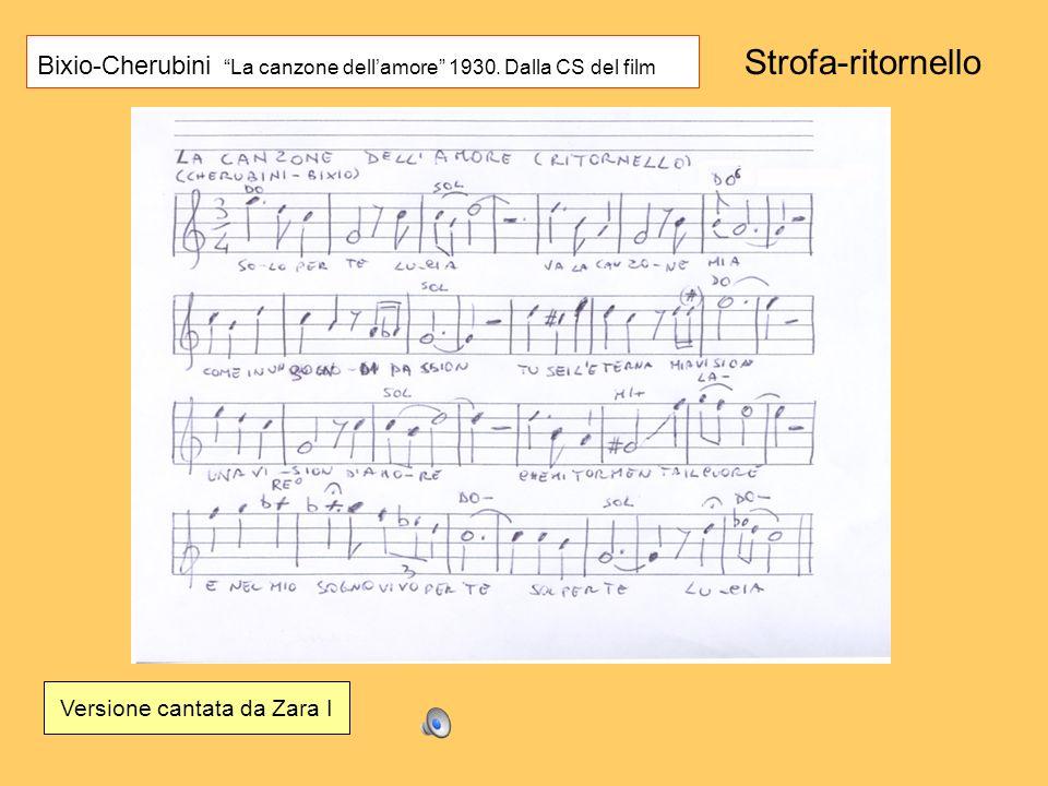 Versione cantata da Zara I