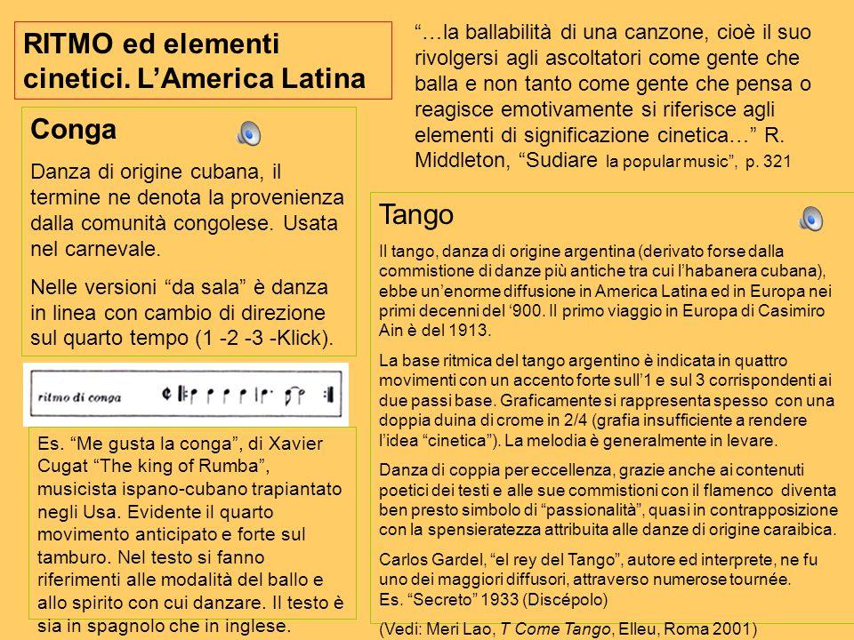 RITMO ed elementi cinetici. L'America Latina
