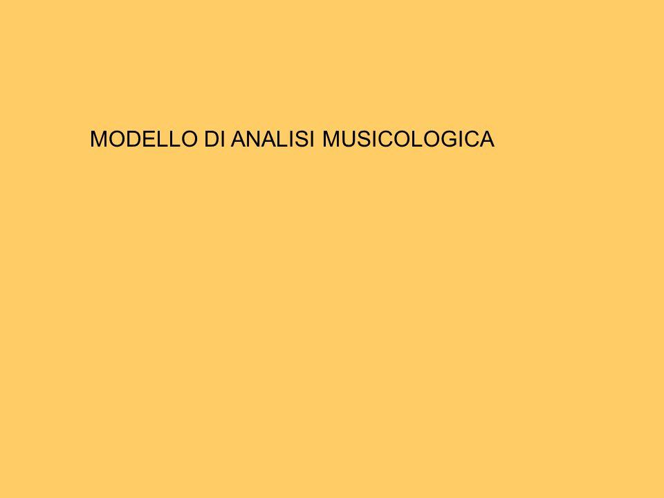 MODELLO DI ANALISI MUSICOLOGICA