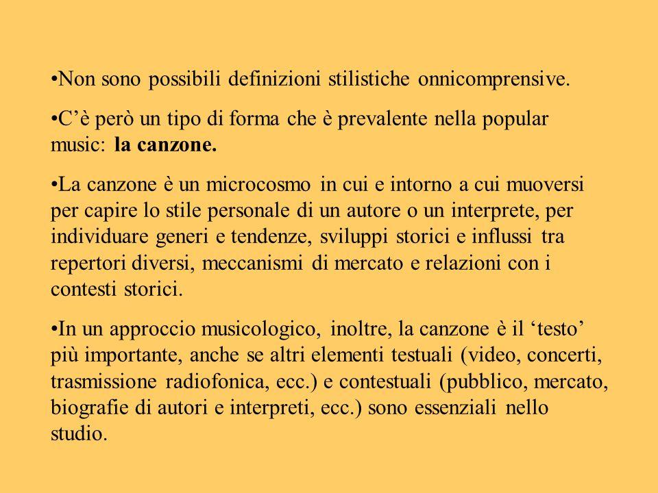 Non sono possibili definizioni stilistiche onnicomprensive.