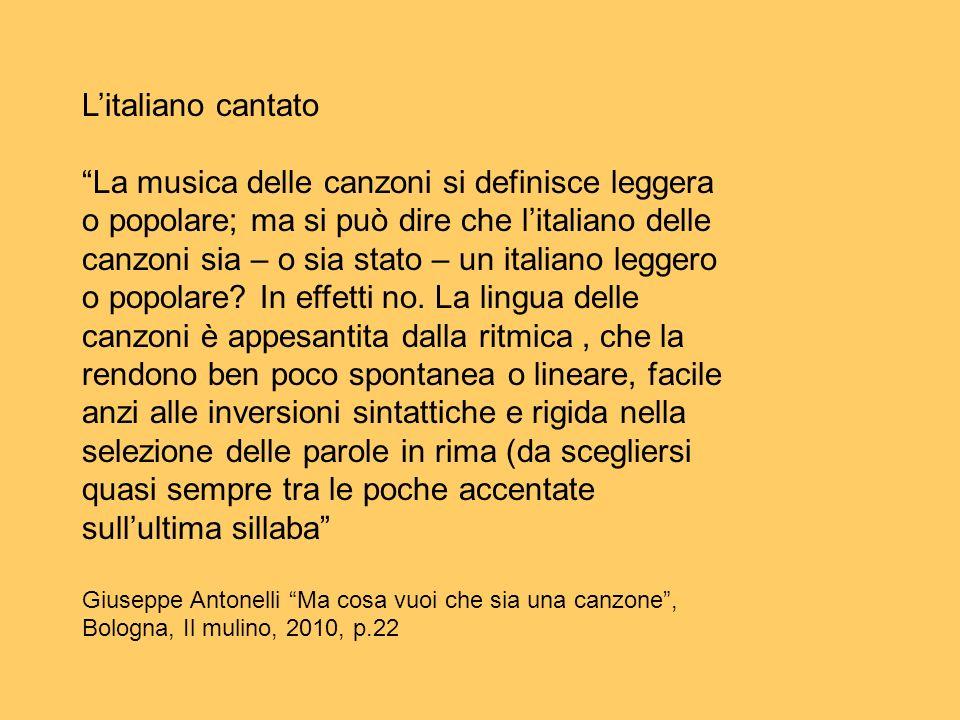 L'italiano cantato