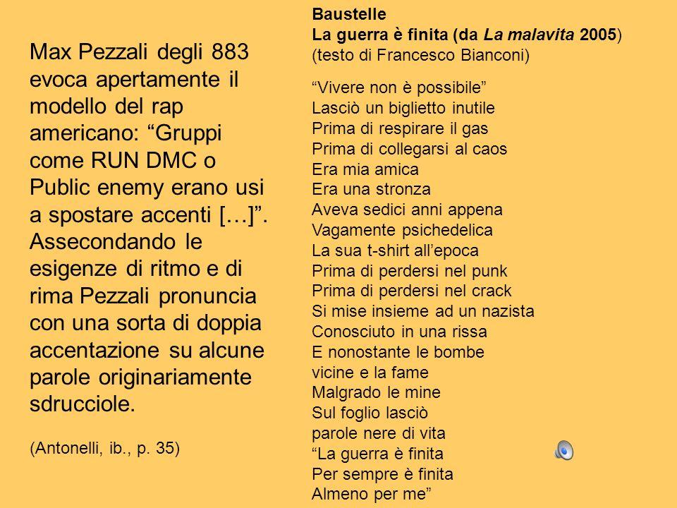 Baustelle La guerra è finita (da La malavita 2005) (testo di Francesco Bianconi) Vivere non è possibile