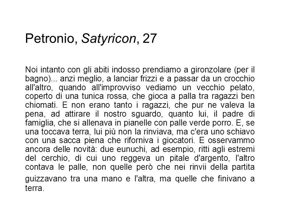 Petronio, Satyricon, 27