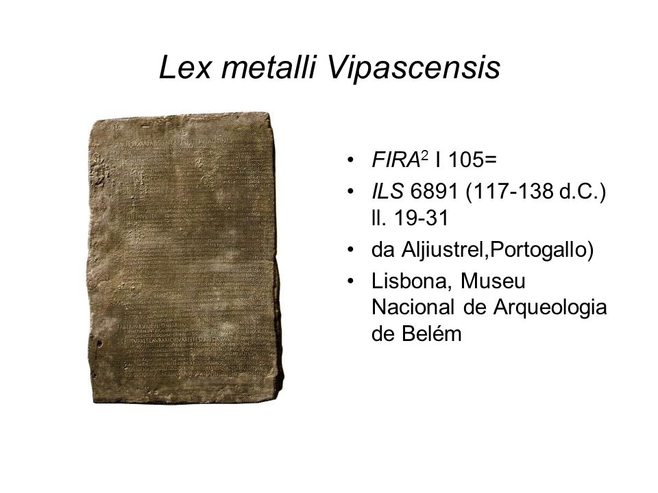 Lex metalli Vipascensis