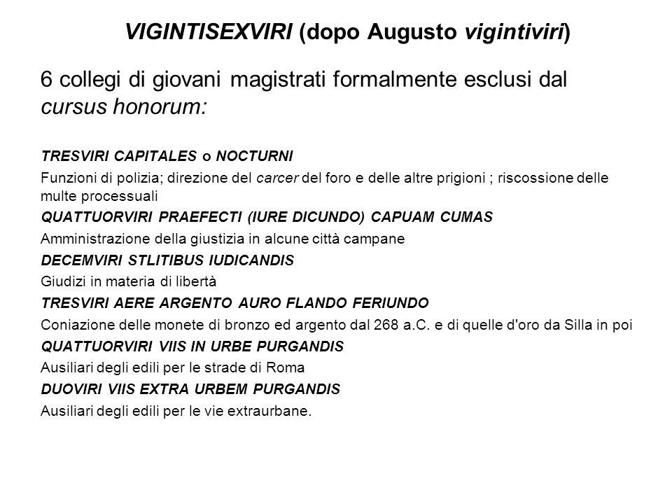VIGINTISEXVIRI (dopo Augusto vigintiviri)