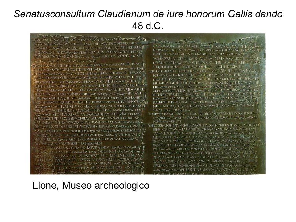 Senatusconsultum Claudianum de iure honorum Gallis dando