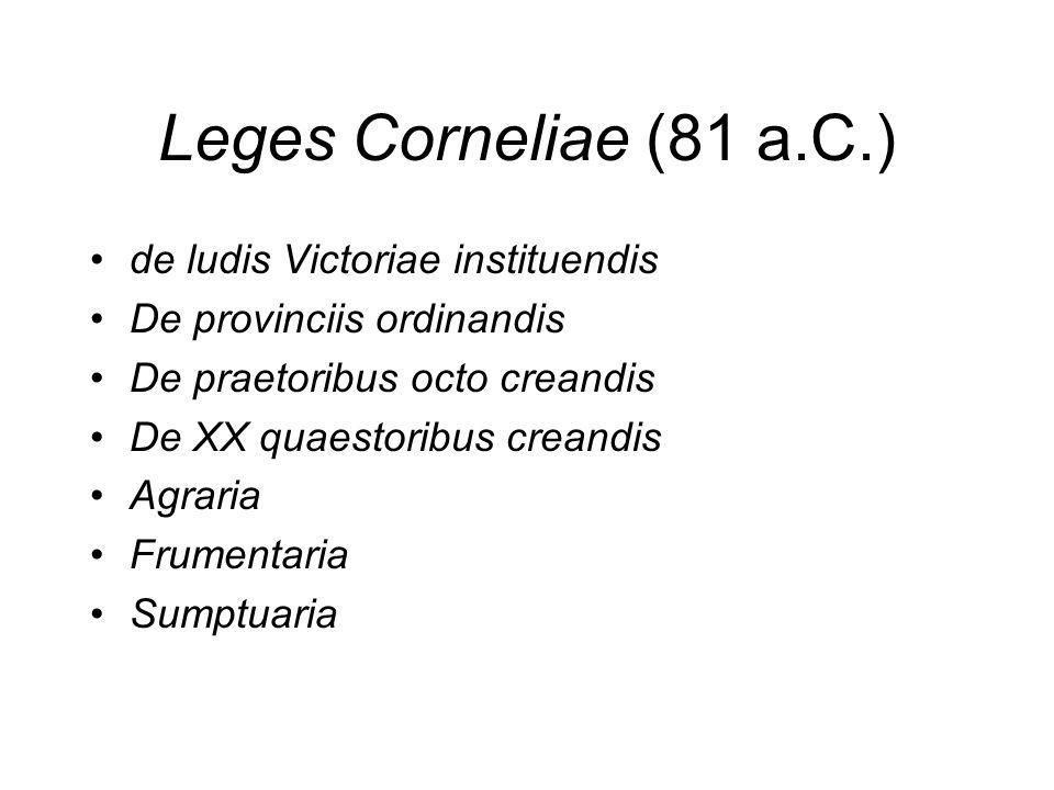 Leges Corneliae (81 a.C.) de ludis Victoriae instituendis