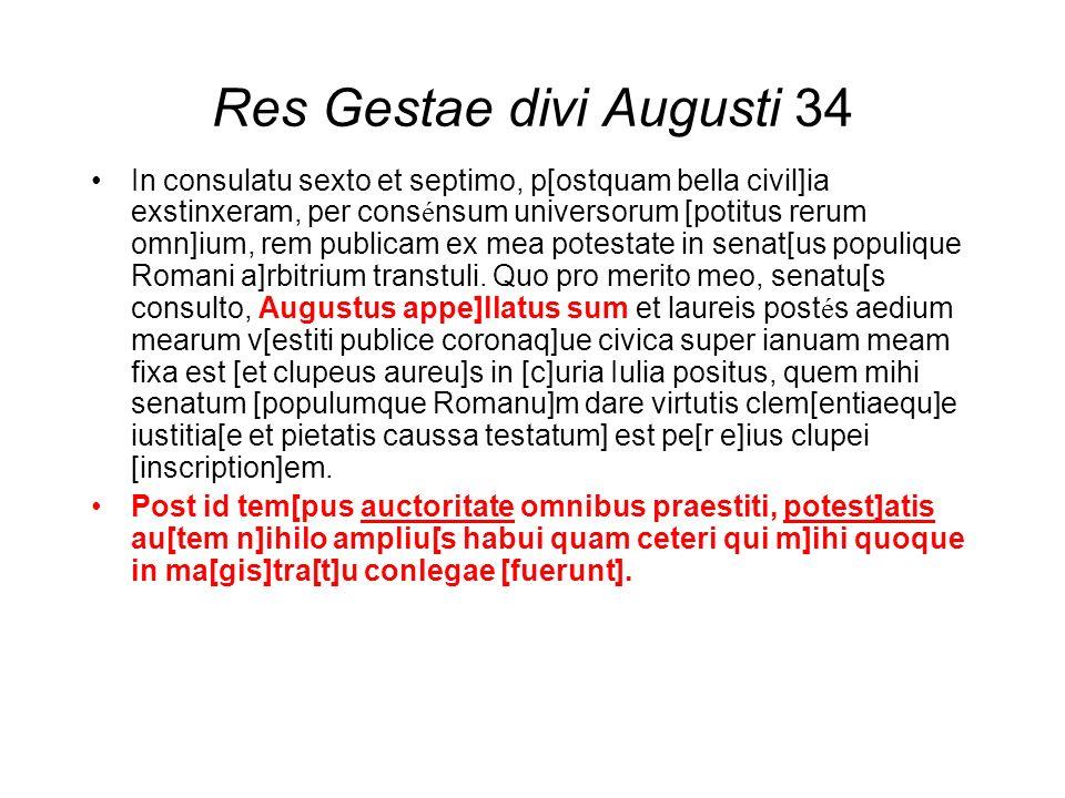 Res Gestae divi Augusti 34